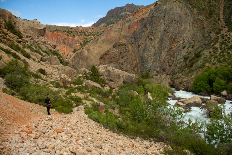 Rivers around Fann Mountains in Tajikistan